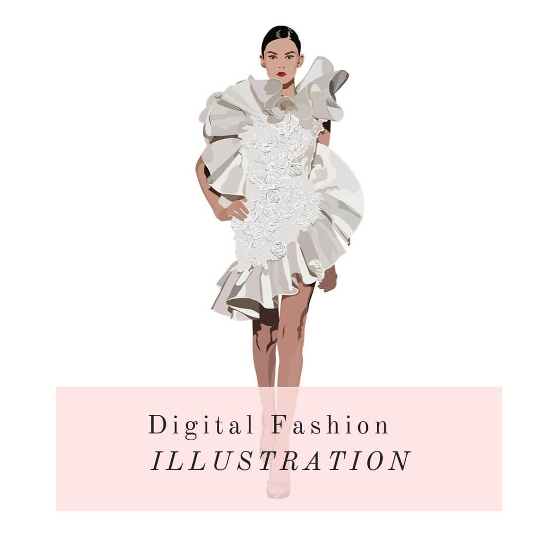 Digital Fashion Illustration Course Online by La Mode College